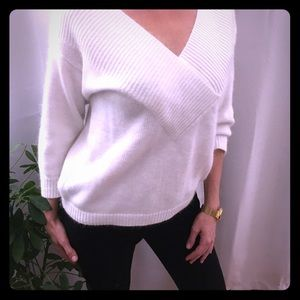Sweaters - Creamy white wool blend sweater.